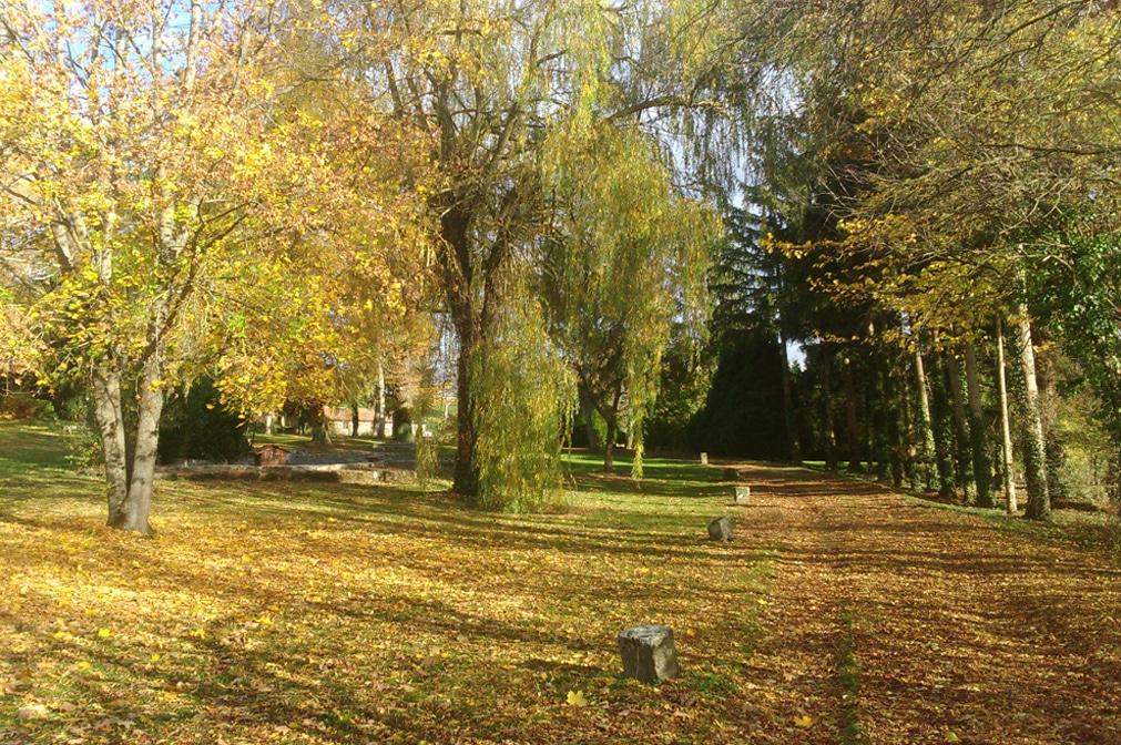 Parc du Centre Médical d'Oussoulx à l'automne